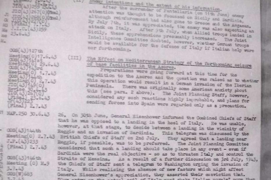 L'appunto di Churchill ai suoi generali che lo storico Zani ha inserito nel libro sull'affondamento del Santa Lucia
