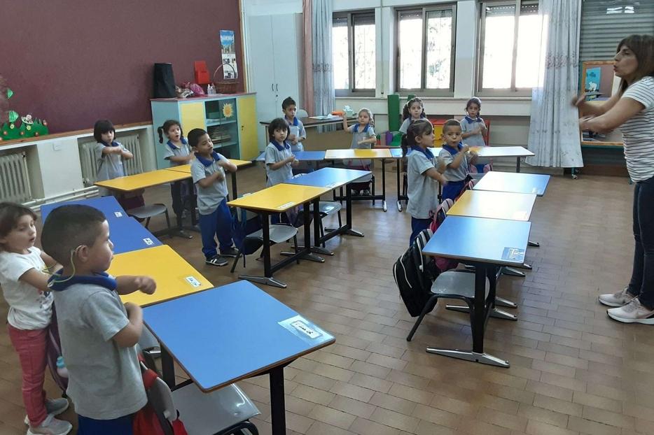 Gli studenti del liceo all'istituto Effetà di Betlemme nei mesi della pandemia