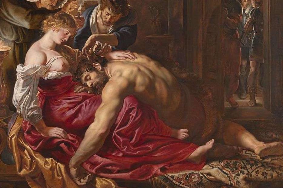 """La tela con """"Sansone e Dalila"""" attribuita a Rubens, alla National Gallery di Londra (particolare). Secondo l'analisi dell'intelligenza artificiale si tratterebbe di un falso d'epoca"""