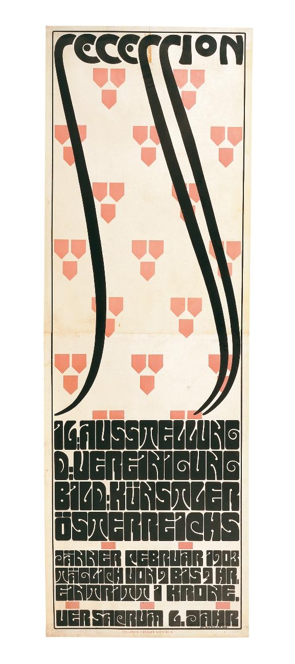 Alfred Roller, manifesto per la XVI mostra della Secessione, 1903