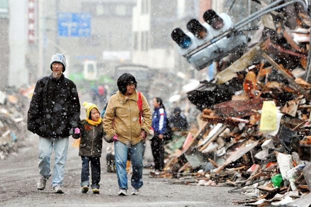 La devastazione a Kamaishi city