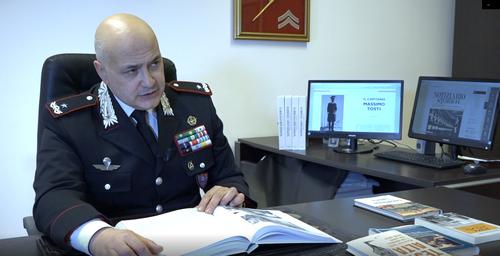 Il generale di Brigata Antonino Neosi, capo dell'Ufficio storico dell'Arma dei Carabinieri