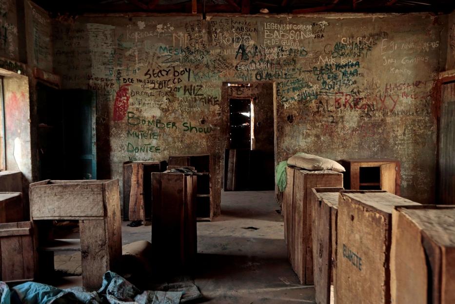 Una camerata del dormitorio dov'è avvenuto il rapimento delle 317 studentesse