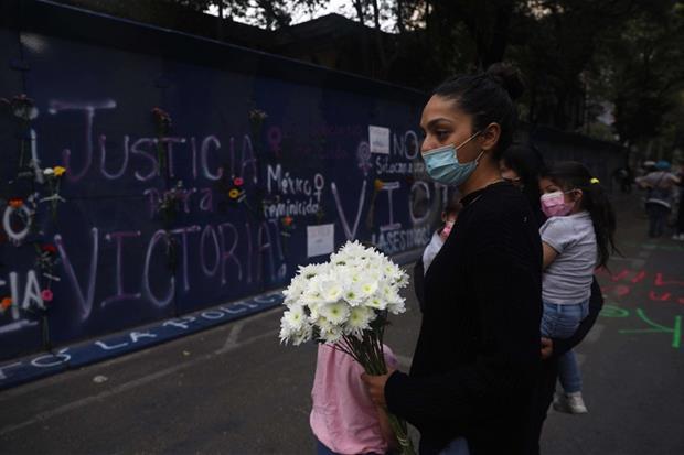 Manifestaciones de solidaridad por Victoria Esperanza Salazar en la Ciudad de México