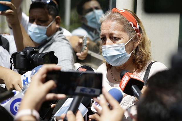 Rosibel Emerita Ariasa, madre de la refugiada de Salvador Victoria Esperanza Salazar