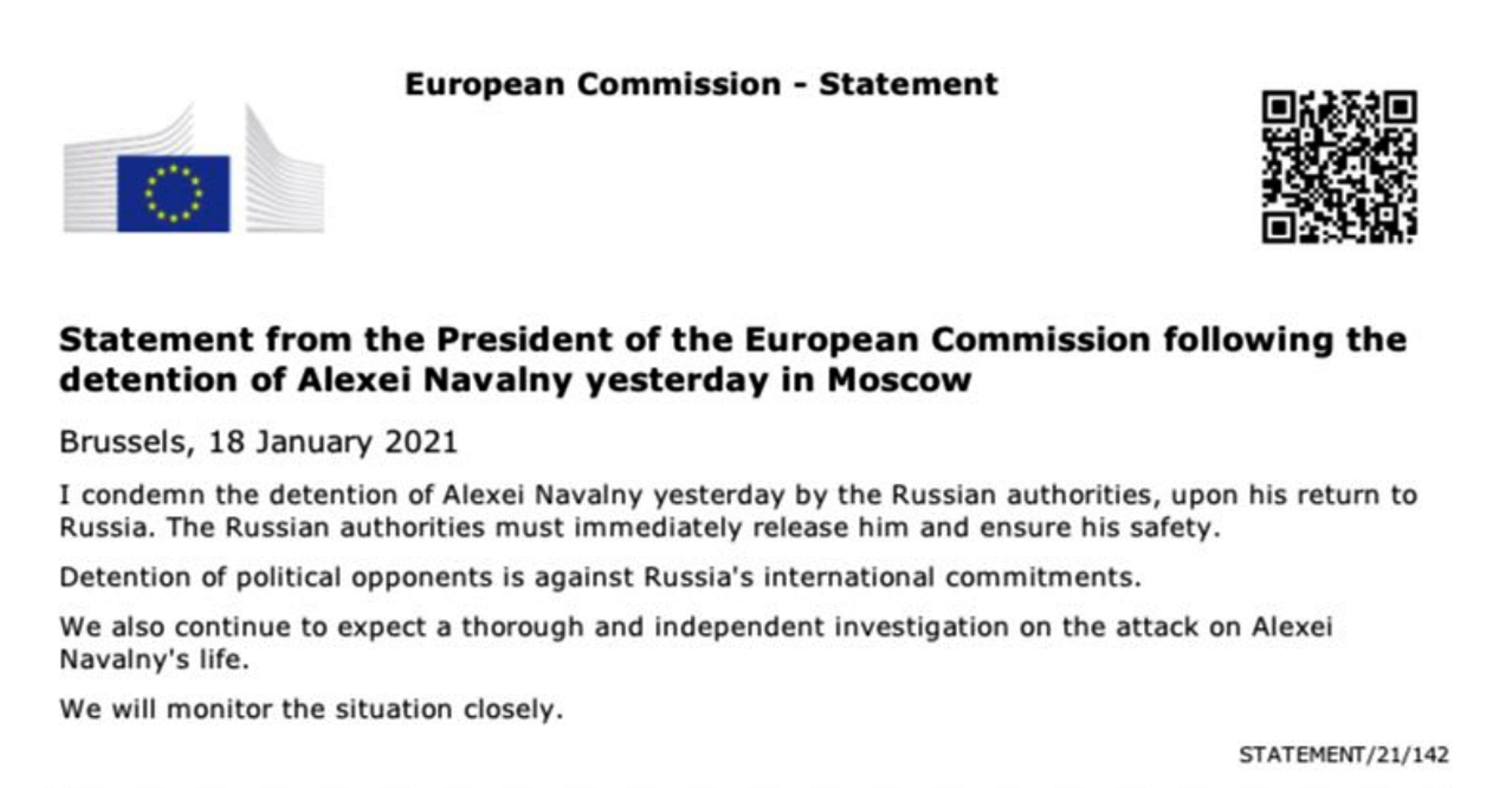 Il tweet della Commissione Ue
