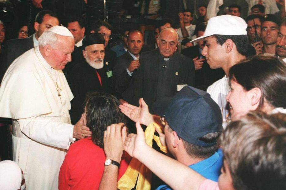 Giovanni Paolo II in Libano nel 1997