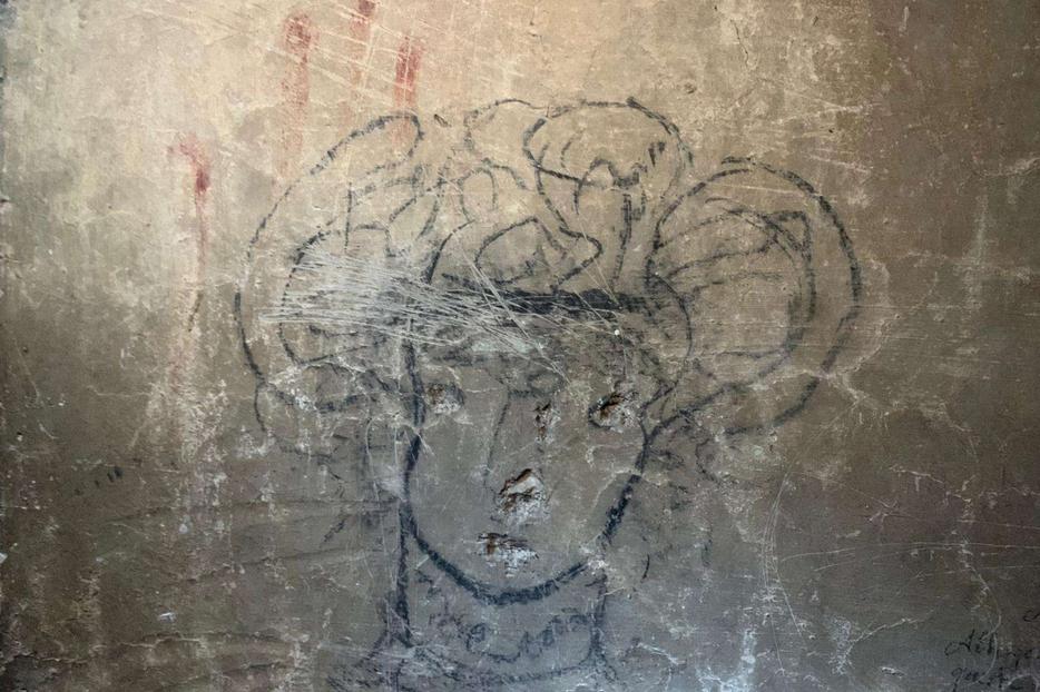Un disegno lasciato da una bimba salvata nella chiesa romana di Santa Maria ai Monti