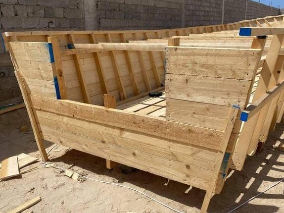Il 'cantiere' dei trafficanti scoperto a Zuara (Libia)