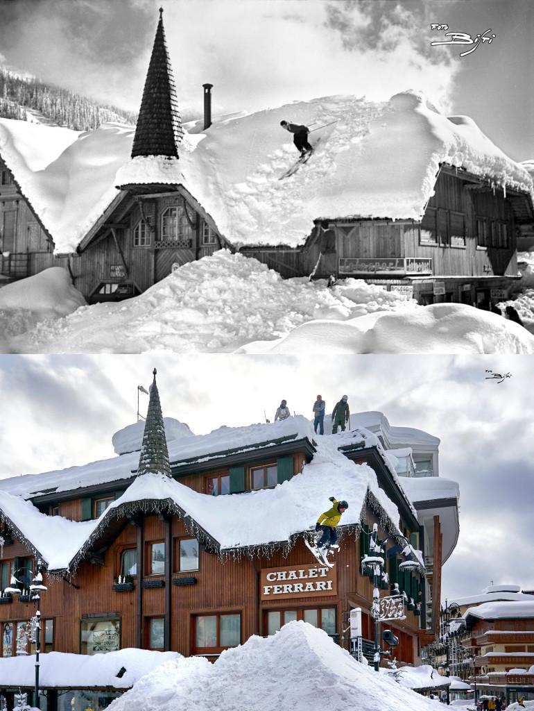 Il salto sugli sci, icona di Madonna di Campiglio, ripetuto dopo 70 anni