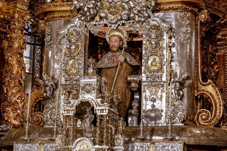 La reliquia di san Giacomo nella Cattedrale di Santiago di Compostela