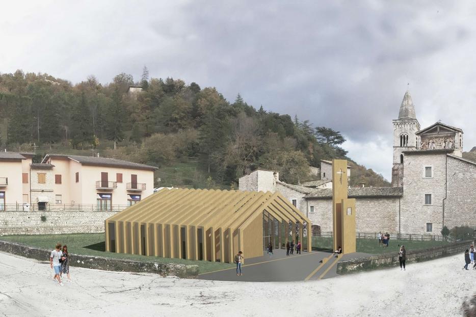 Maria Giada Di Baldassarre, Post earthquake community. Una nuova cappella devozionale dedicata alla Santa Vergine Maria a Visso, Macerata