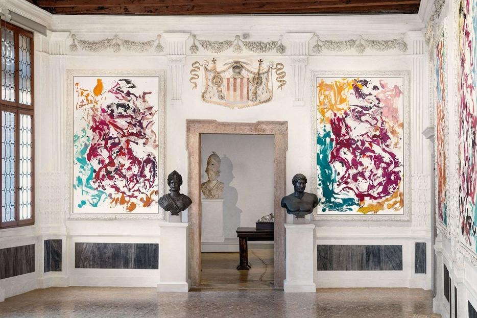 Georg Baselitz, 'Archinto' (2021), installazione a Palazzo Grimani, Venezia