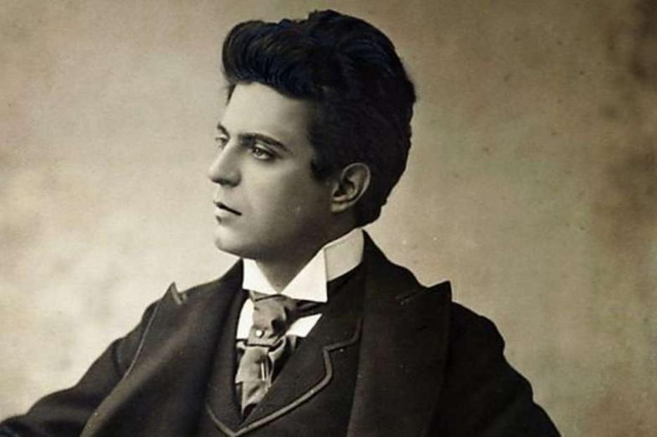 Il compositore livornese Pietro Mascagni