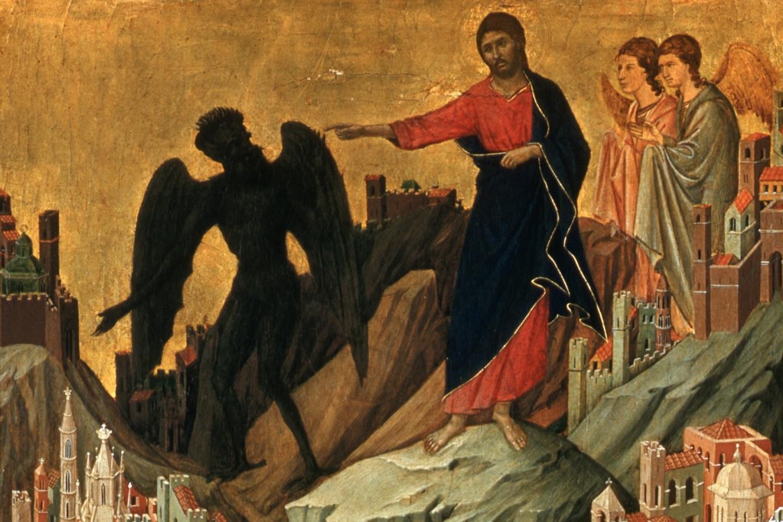 'Le tentazioni di Cristo sul monte' di Duccio di Boninsegna