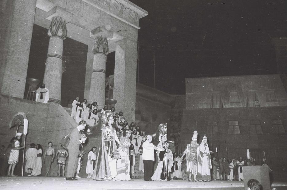 Maria Callas in 'Aida' all'Arena di Verona nel 1953