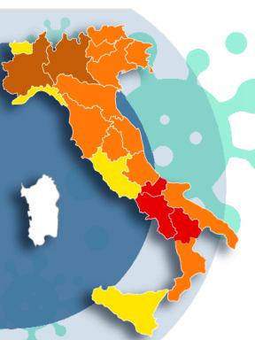 Come sarà la mappa dell'«Italia a colori» lunedì 8 marzo