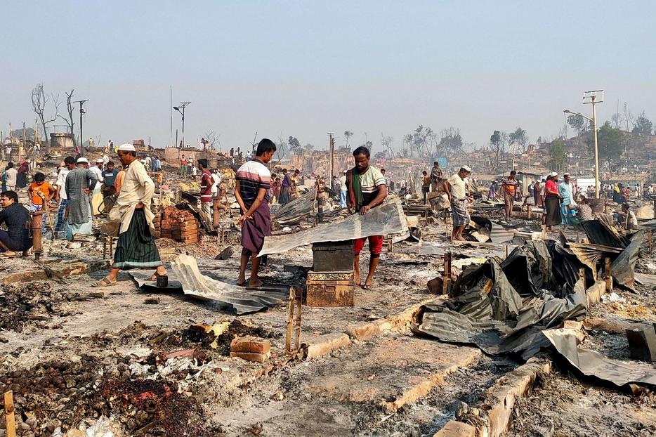 Nell'incendio sono andate distrutte 10mila baracche: gli sfollati sono 45mila