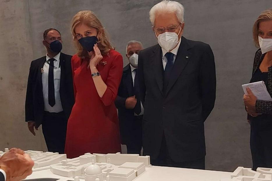 Mattarella nel pomeriggio al museo di Pergamo