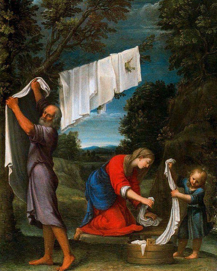 Lucio Massari: La Santa Famiglia fa il bucato