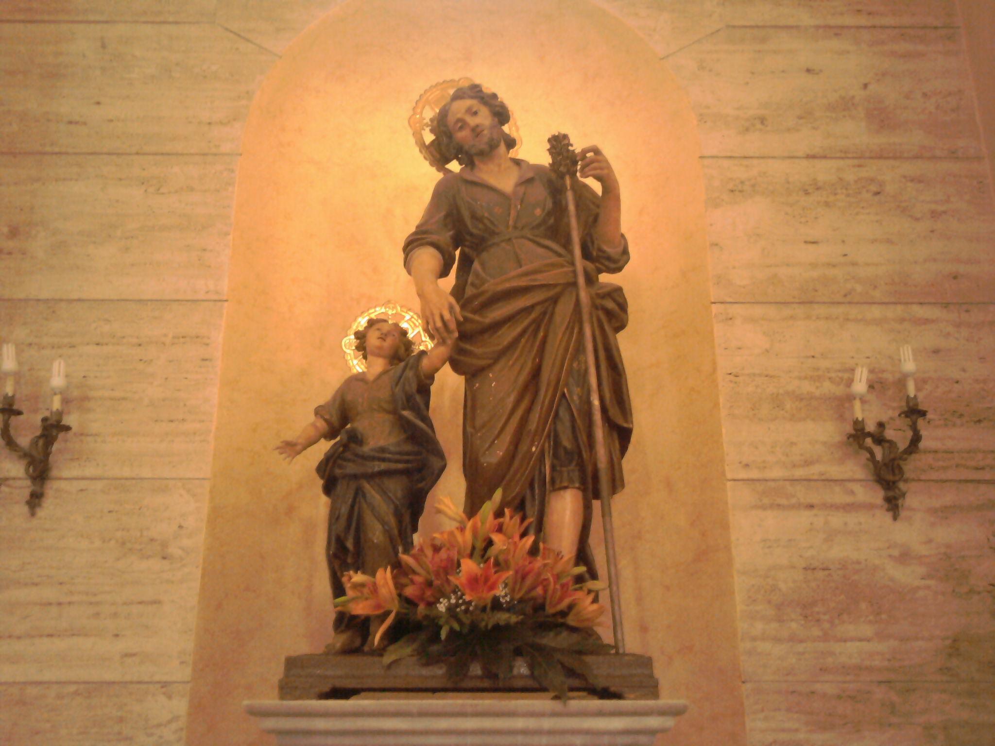 Statua di san Giuseppe nella Concattedrale di Palmi