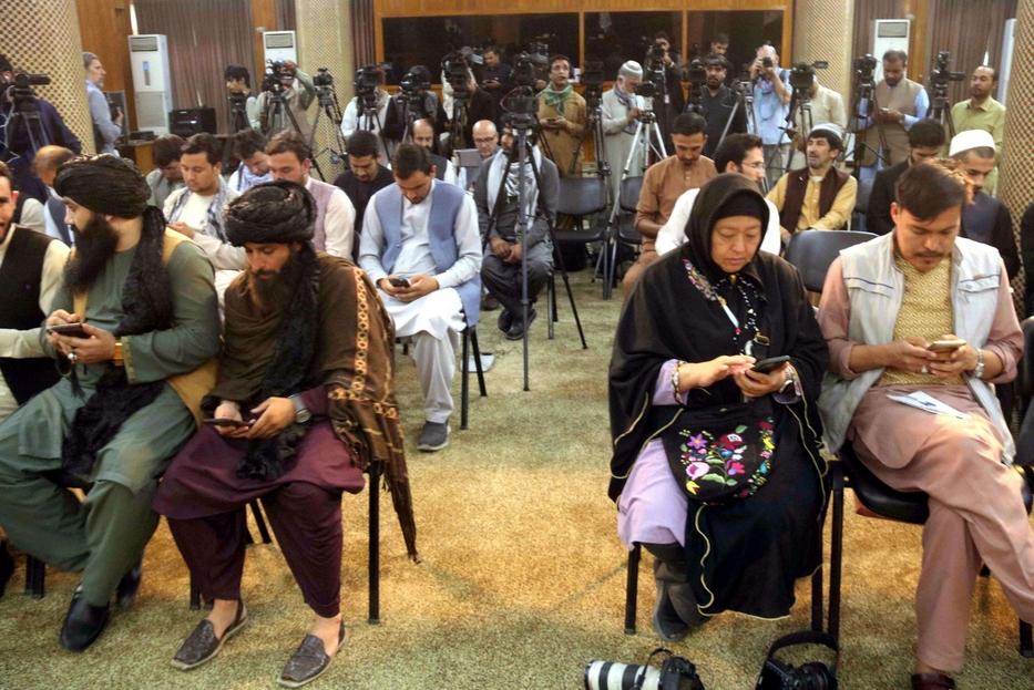 La conferenza stampa dei taleban