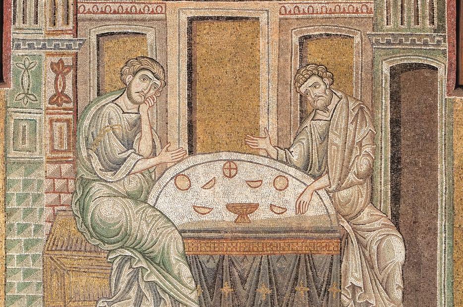 """""""La scomparsa del Risorto"""", mosaico del Duomo di Monreale (XII secolo)"""