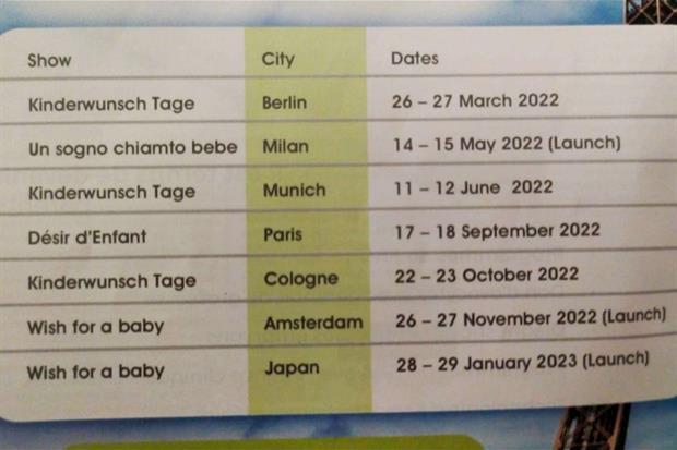 Il calendario delle prossime Fiere della procreazione assistita