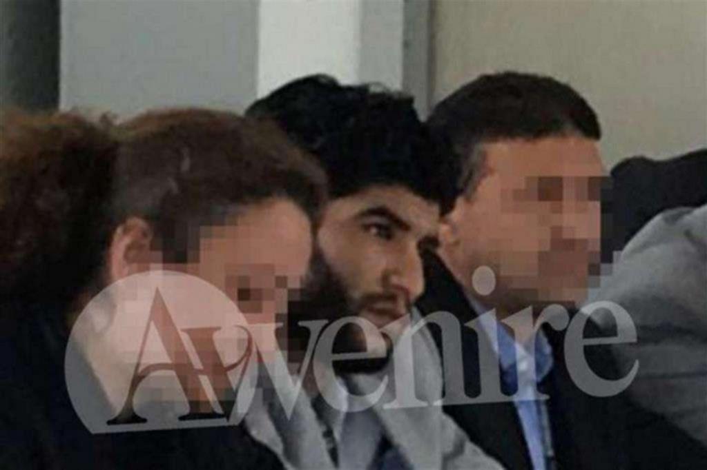 Una delle imagini dell'incontro riservato a cui al-Milad partecipò a Mineo (Catania) nell'aprile del 2017