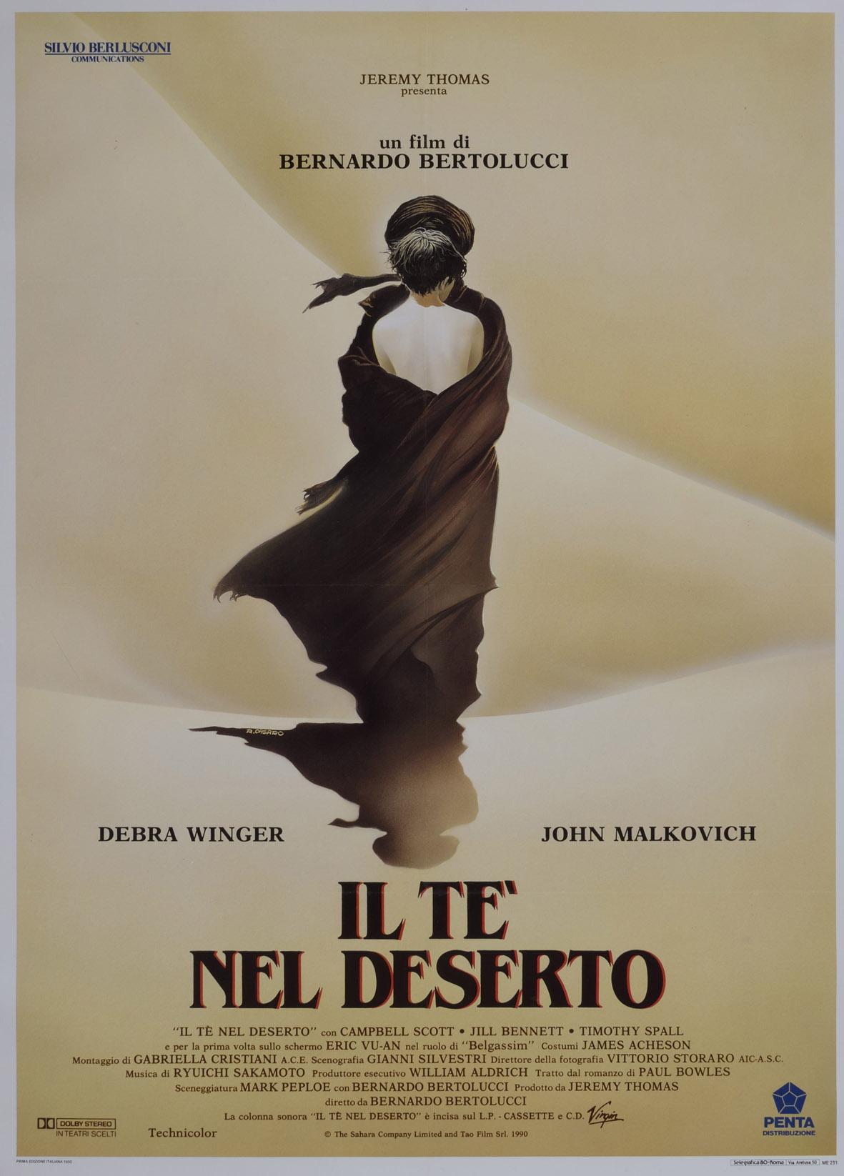 Il manifesto di Renato Casaro per 'Il tè nel deserto' di Bernardo Bertolucci