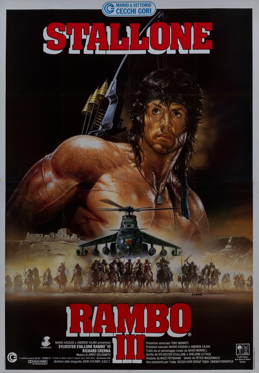 Il manifesto di Renato Casaro per 'Rambo III'