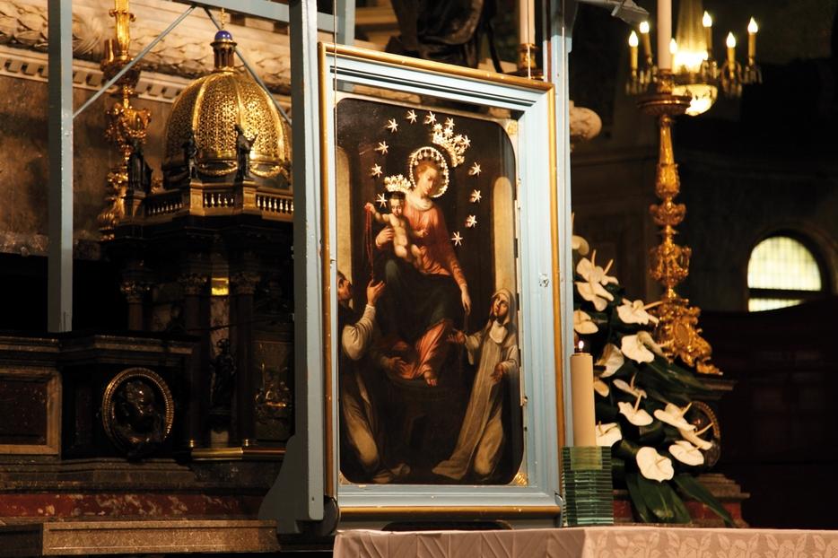 Il quadro della Beata Vergine del Samto Rosario