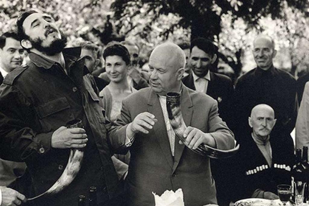 Fidel con Nikita Khrushev (1963) -