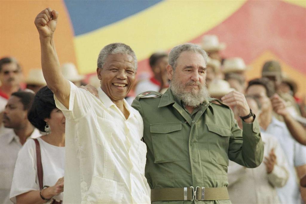 Fidel con Nelson Mandela (1991) -