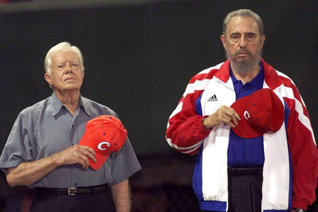 Fidel con Jimmy Carter (2002) -