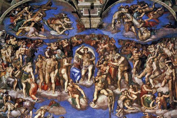 Giudizio Universale alla Cappella Sistina di Michelangelo