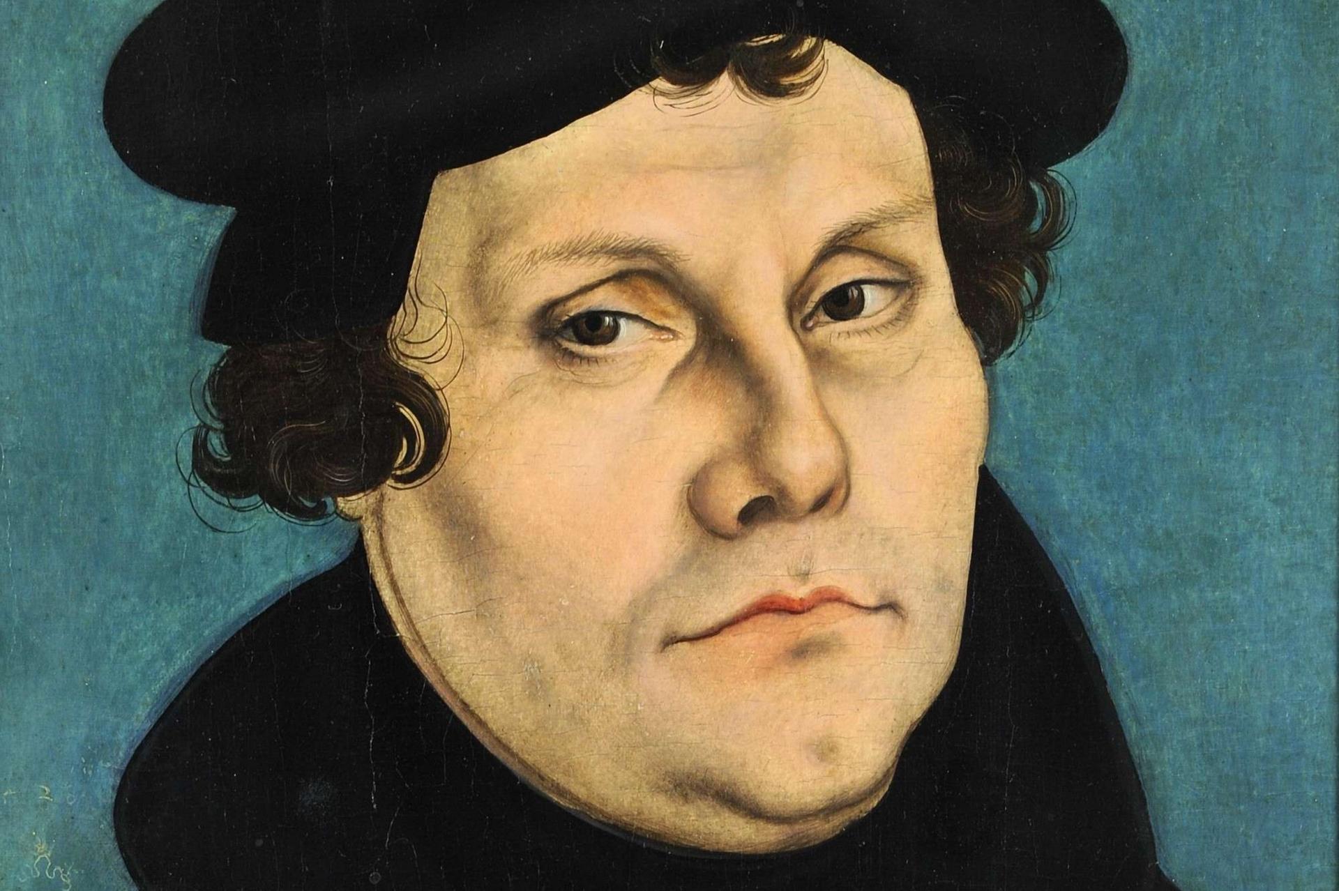 Un ritratto di Martin Lutero di Lucas Cranach, 1528 (Wikimedia Commons)