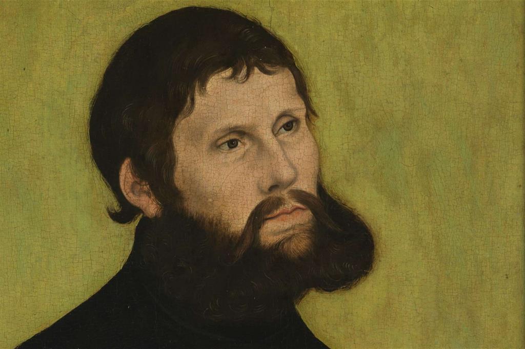 """Lucas Cranach il vecchio, """"Martin Lutero"""", 1522 (WikiCommons)"""