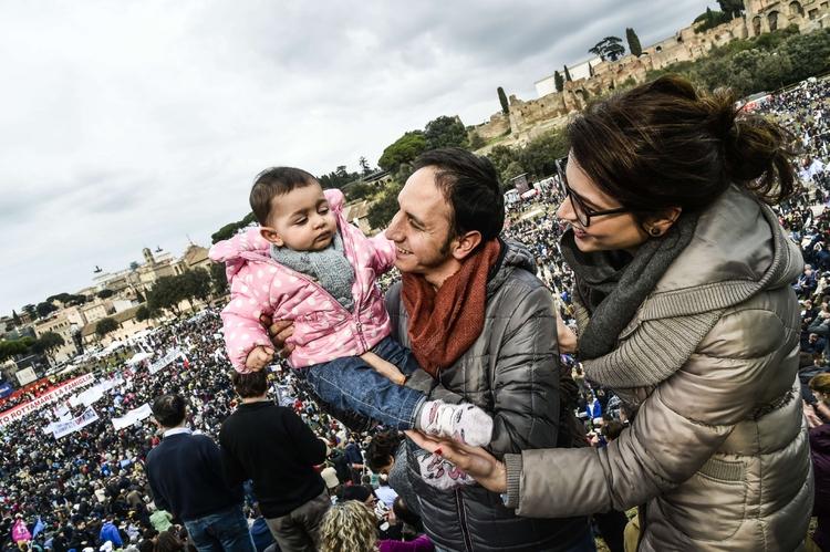 Le famiglie al Circo Massimo Tutta la cronaca in presa diretta