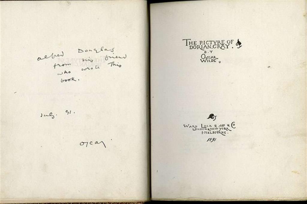 Oscar Wilde, Il ritratto di Dorian Gray (edizione con dedica a Alfred Douglas), 1891. (The William Andrews Clark Memorial Library - University of California, Los Angeles) -