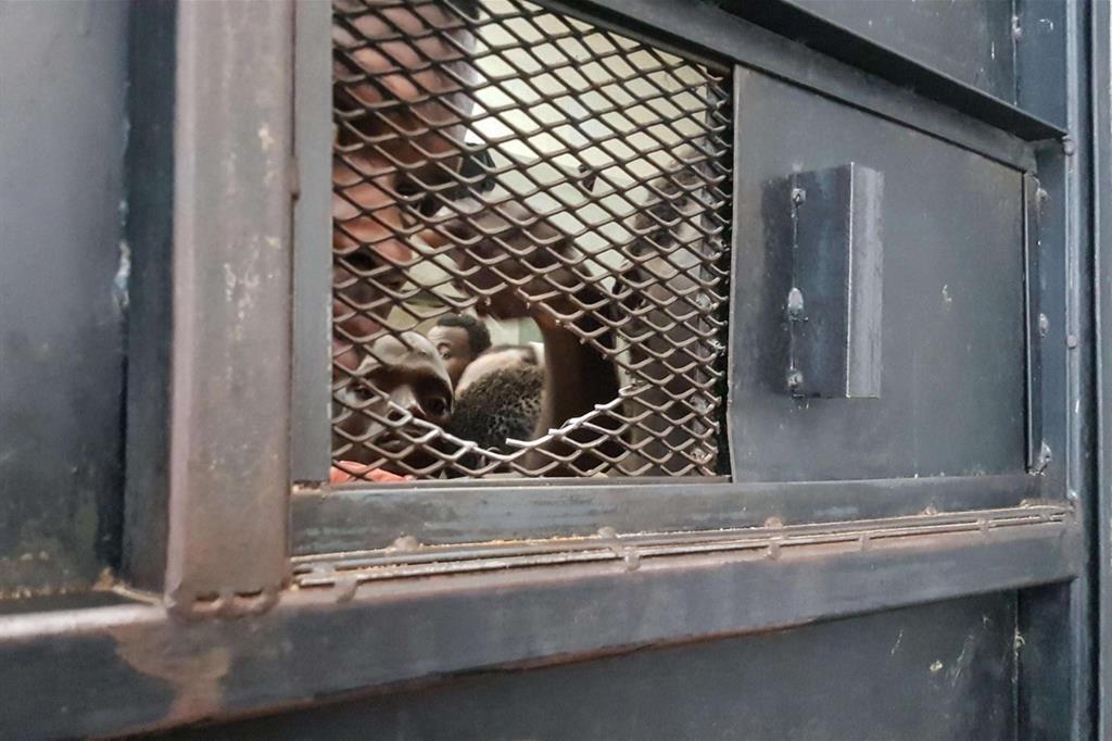 Tutte le immagini si riferiscono al centro di detenzione per migranti di Zawiya, 30 km da Tripoli (servizio Ansa) -