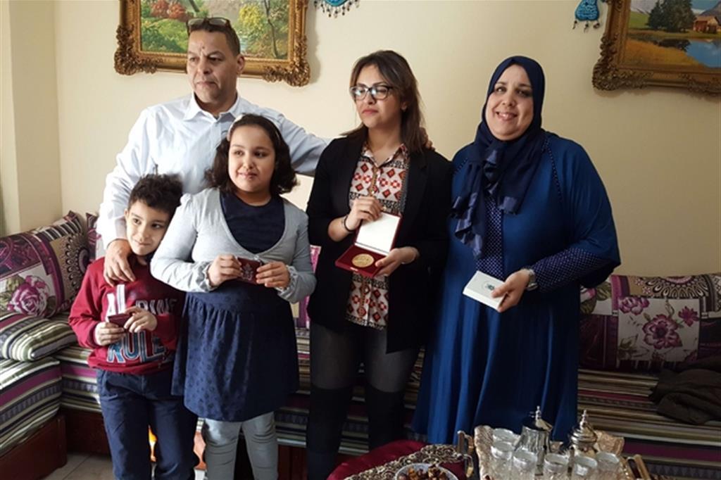 La famiglia musulmana visitata dal Papa -