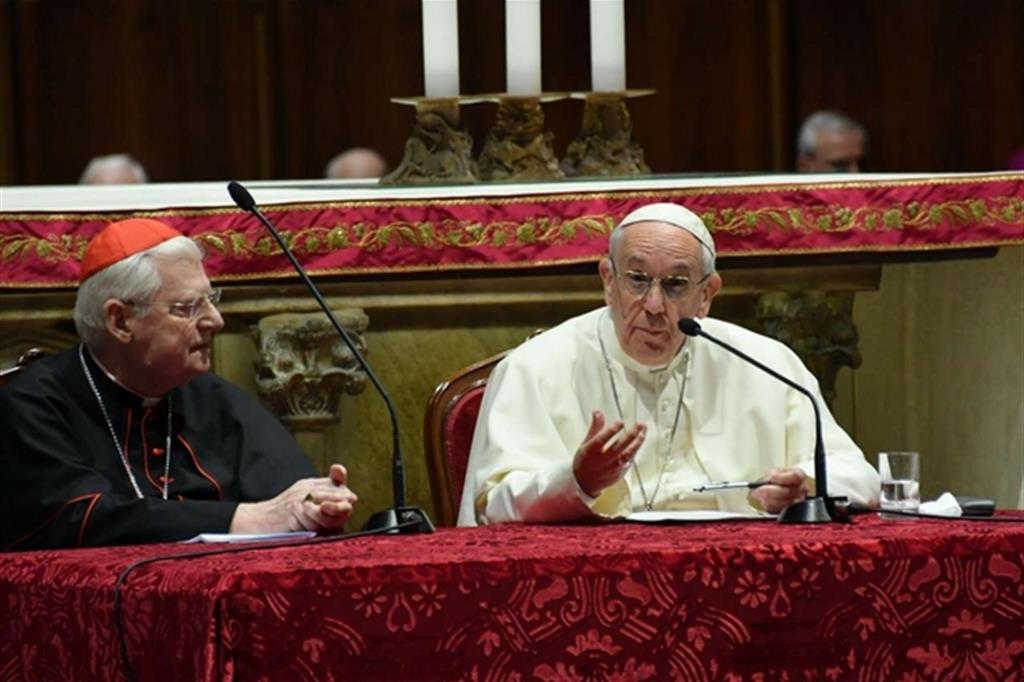 Papa Francesco con il cardinale Scola In Duomo -