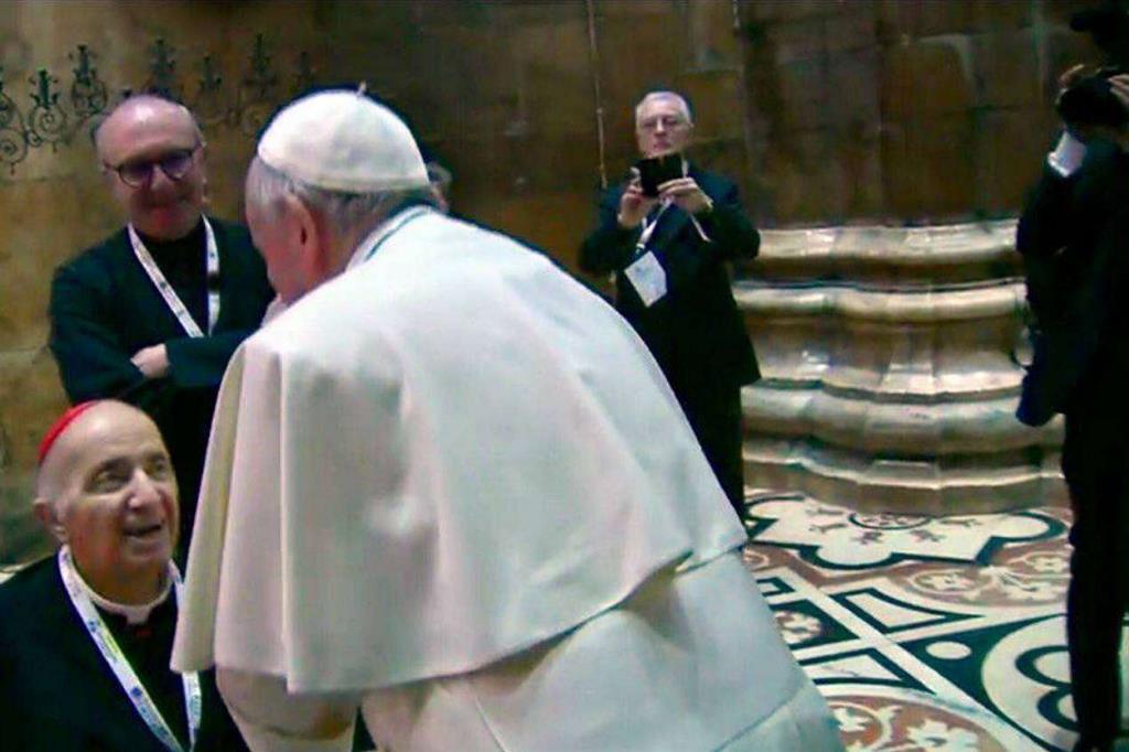 Il saluto al cardinale Tettamanzi -