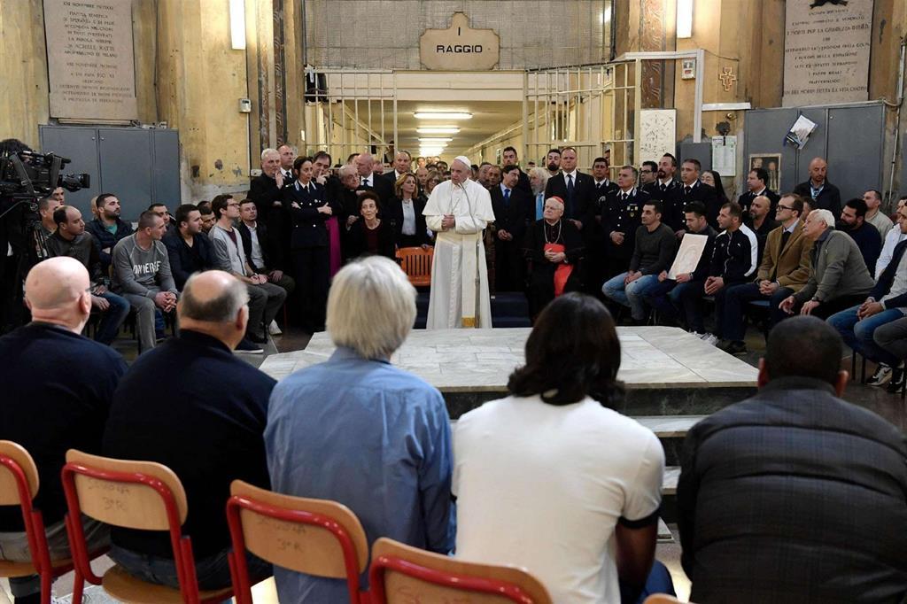 San Vittore. Papa Francesco incontra i carcerati -