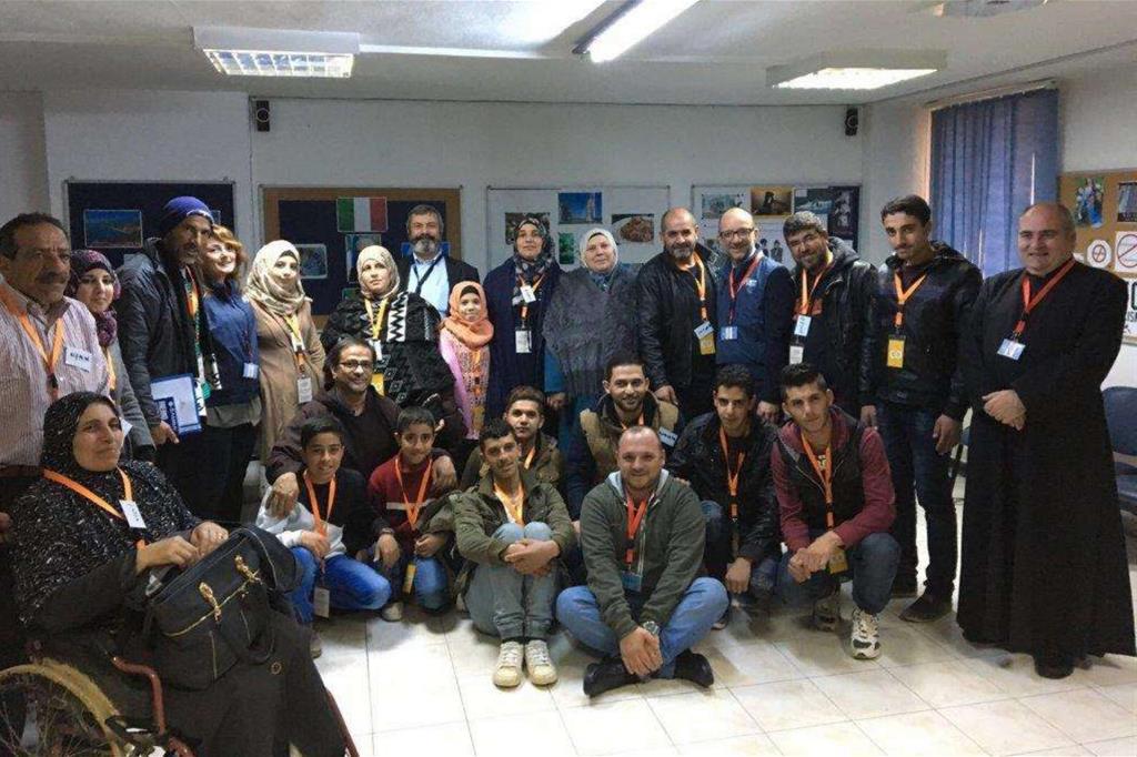 Amman, sede Iom: l'incontro delle famiglie siriane con la delegazione italiana prima della partenza