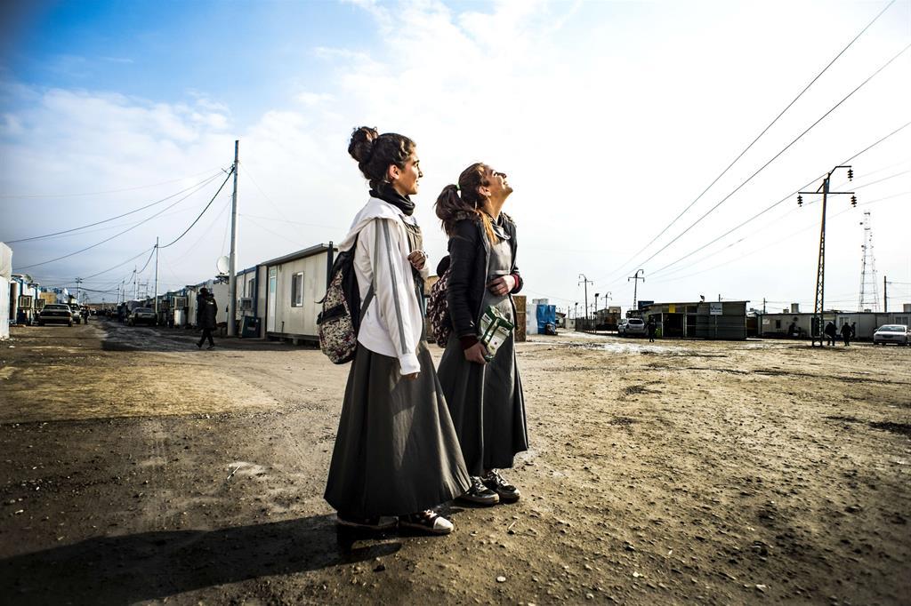 Si parte finalmente dal campo profughi di Ankawa 2, a Erbil, dopo oltre due ani di attesa: Qaraqosh è finalmente libera. -