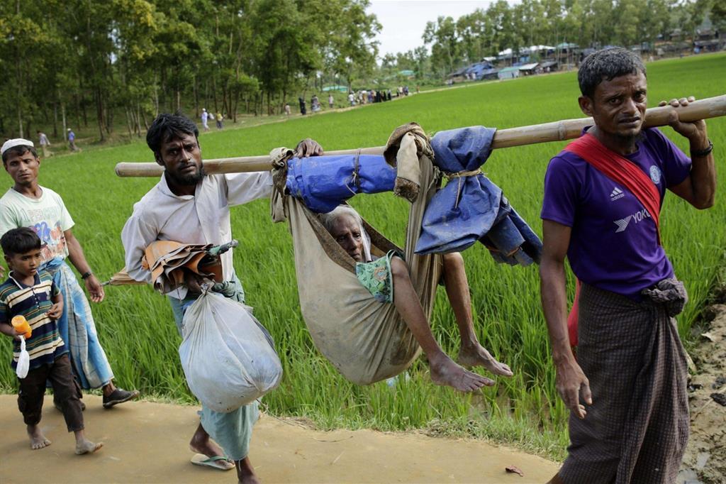 e, sempre secondo l'Unicef, ci sono molti bambini nati sulla strada durante l'esodo -