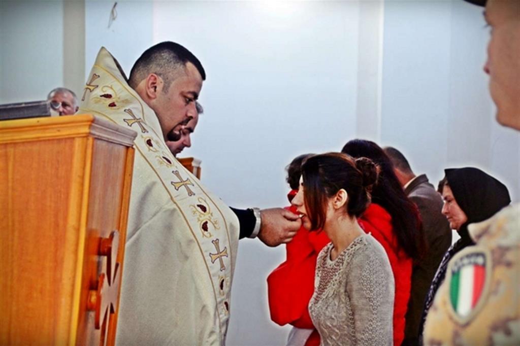 La Messa alla chiesa della Santa Croce di Mosul Dam