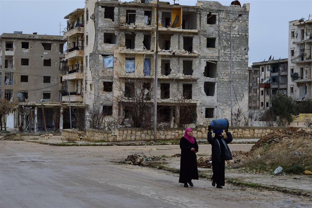 Vivere tra le macerie ad Aleppo Est -